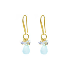 Sara briolette earrings with Chalcedony mix