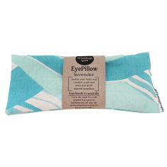 Lavender or rose scented eye pillow in teal