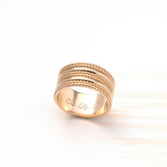 Personalised Triple Beaded Ring