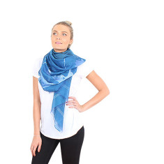 Mira silk/cotton scarf