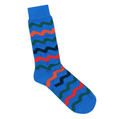 Loco blue wave socks