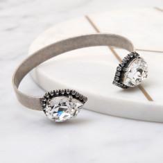 Pear Crystal Cuff Bracelet