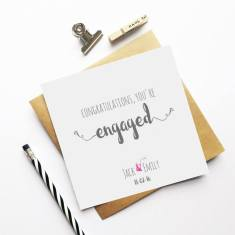Personalised engagement greeting card