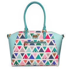 Quirky triangle print oversized handbag