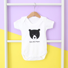 Baby Bear, Personalised Baby Grow