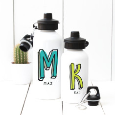 Personalised Typewrite Name Water Bottle