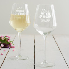 Personalised Matron Of Honour Wine Glass