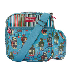 Insulated Lunchbox Sling in Robot Downey Stripe Print