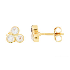 Trio Studs In Gold Plate