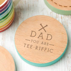 Personalised Golf You Are Tee Riffic Pun Coaster