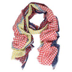 Collage digital print cotton scarf