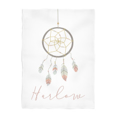 Dreamcatcher personalised fleece blanket