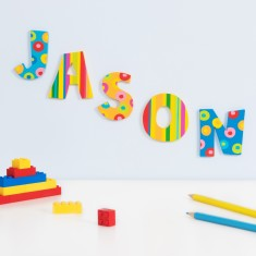 Stripes and Spots Wooden Letters
