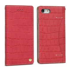 Croco leather iPhone 7/7+ case in red/handmade