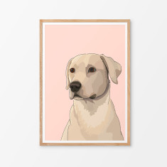 Labrador illustrated print (various colours)