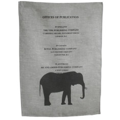 tea towel - elephant