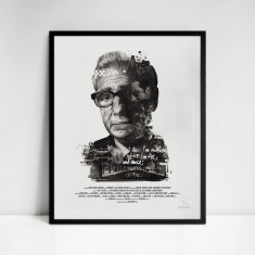 Martin Scorsese Movie Director Portrait Print