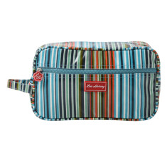 Gusset Vanity Bag in Downey Stripe Print