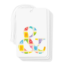 Ampersand gift tags (pack of 6)