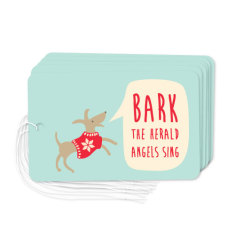 Christmas dog gift tags (pack of 6)
