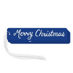 Navy Merry Christmas gift tags (pack of 6)