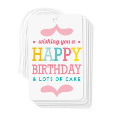Lots of cake gift tags (pack of 6)
