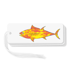 Camouflage fish gift tags (pack of 6)