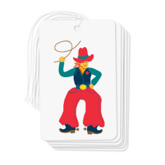 Cowboy gift tags (pack of 6)