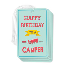Happy camper gift tags (pack of 6)