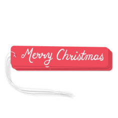 Red Merry Christmas gift tags (pack of 6)