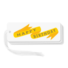 Ribbon birthday gift tags (pack of 6)