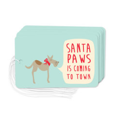 Santa paws gift tags (pack of 6)