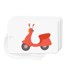 Vintage scooter gift tags (pack of 6)