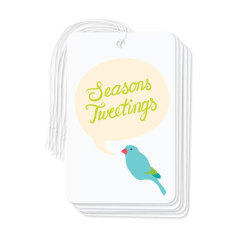 Christmas budgie gift tags (pack of 6)