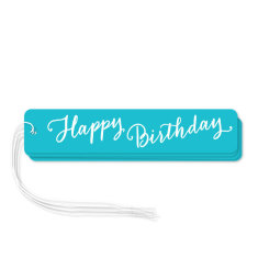 Aqua happy birthday gift tags (pack of 6)