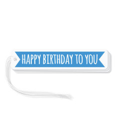 Blue flag birthday gift tags (pack of 6)