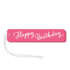 Pink happy birthday gift tags (pack of 6)