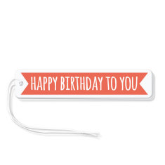 Red flag birthday gift tags (pack of 6)