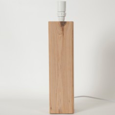Natural timber post lamp base