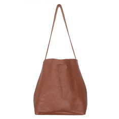 Lygon luxe leather bag in tan