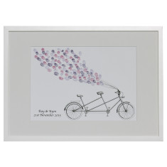 Framed tandem bike fingerprint guestbook