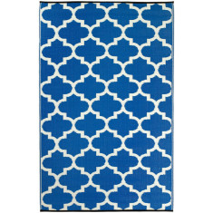 Tangier outdoor rug blue