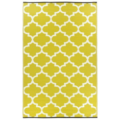 Tangier outdoor rug in citron