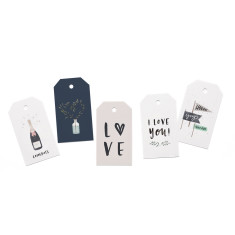 Love & Wedding Gift Tag Set of 5