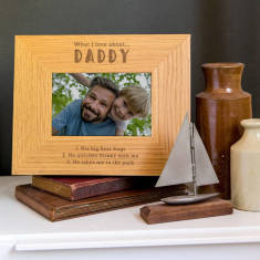 Daddy Photo Frame Personalised 'What I Love About Dad'