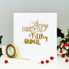 Filthy animal Christmas card