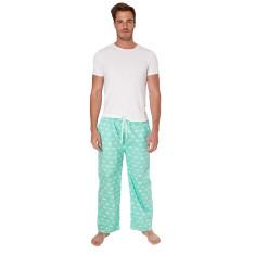 Gone fishing green men's pj pants