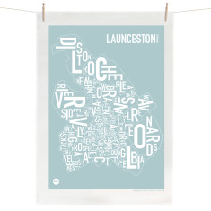 Launceston tea towel