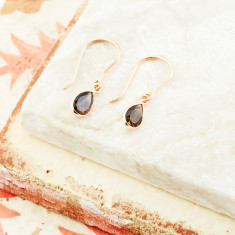 Sofia Fine Pear Drops With Smoky Quartz