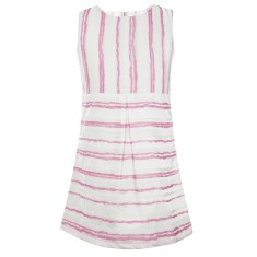 Girls' candy cane shift dress